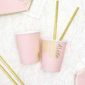 Bekertjes roze-goud (6st) Leaves