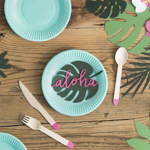 Houten bestek fuchsia Aloha Collectie (18st)