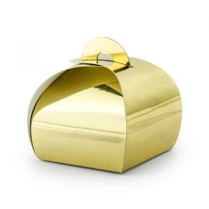 Bedankdoosjes goudfolie (10st) product