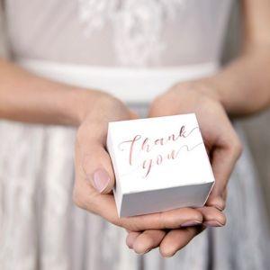 Bedankdoosjes Thank You roségoud (10st)