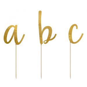 Prikkers Alfabet goud