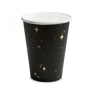 Bekertjes Galaxy (6st) Black & Gold