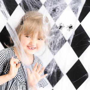 Decoratie spinnen zwart (10st)