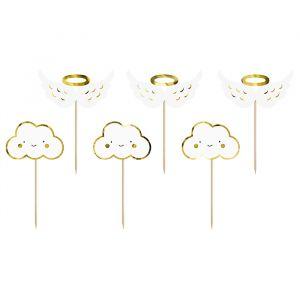 Cupcake prikkers (6st) Clouds