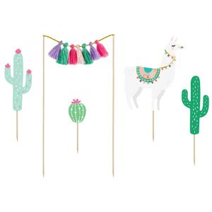 Caketoppers (5st) Llama