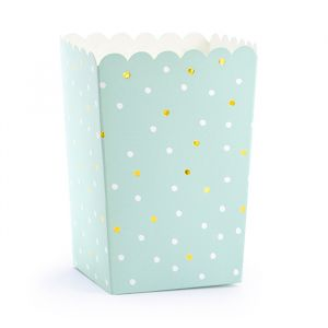 Popcorn bekers mint dots (6st) Cactus