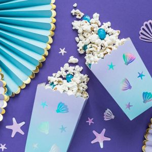 Popcorn bekers pastel holografisch (6st) Narwhal
