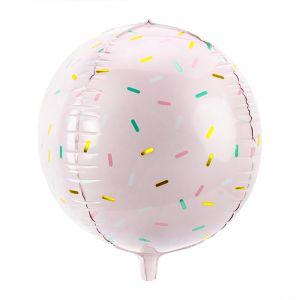 Folieballon Sprinkle roze (40cm)