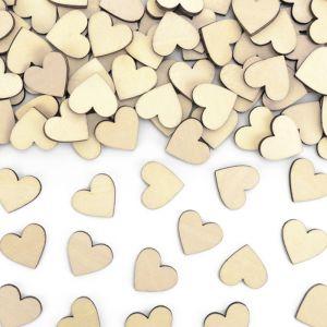 Confetti houten hartjes (50st) Forest Wedding