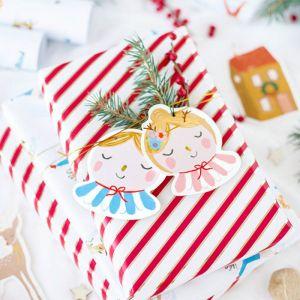 Cadeaulabels Christmas mix (12st)