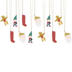 Cadeaulabels Santa (12st)