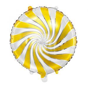 Folieballon Candy wit-goud