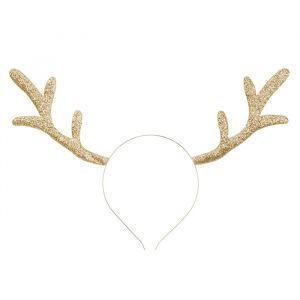 Diadeem rendier goud Forest Christmas