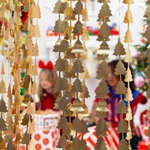 Backdrop kerstbomen goud Forest Christmas