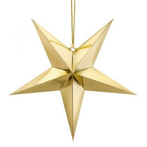 Papieren decoratie ster goud