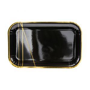 Borden Stripes zwart (6st)