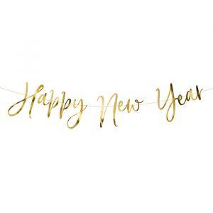 Slinger Happy New Year goud