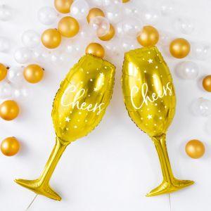 Folieballon champagneglas Cheers (80cm)