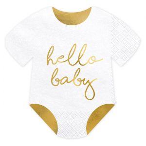 Servetten Romper Hello Baby (20st)