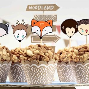 Cupcake kit Woodland (6st)