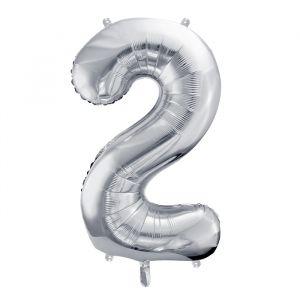 XL Folieballon 2 (86cm) Zilver
