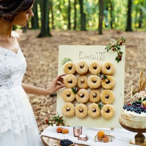 Houten Donut Wall Forest Wedding