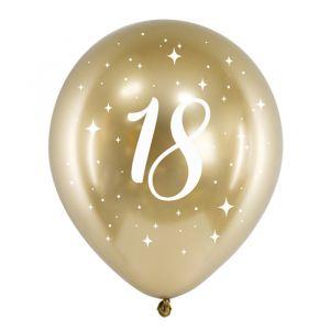 Ballonnen 18 jaar goud (6st)