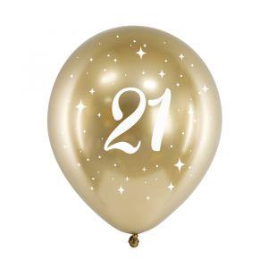Ballonnen 21 jaar goud (6st)