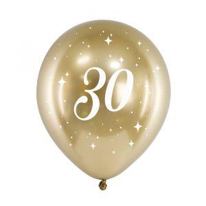 Ballonnen 30 jaar goud (6st)