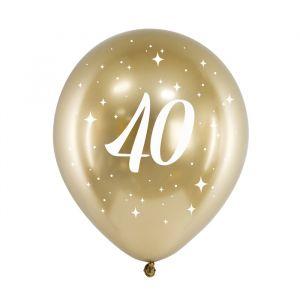 Ballonnen 40 jaar goud (6st)
