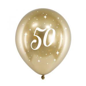 Ballonnen 50 jaar goud (6st)