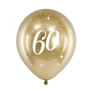 Ballonnen 60 jaar goud (6st)