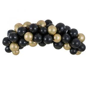Ballonnenboog zwart en goud