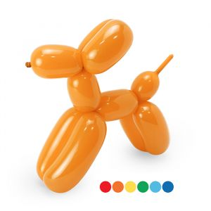 Lange ballonnen 130cm Bright mix met pomp (30st)