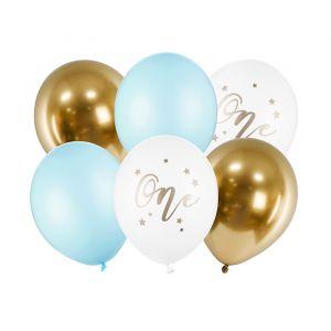 Ballonnenmix One pastel blauw(6st)