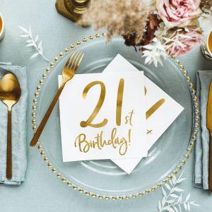 Servetten 21st birthday goud (20st)