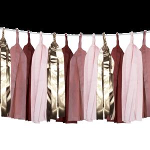 Tasselslinger donker roze (4m) Delight Department