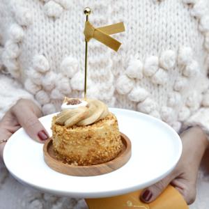 Cupcake toppers velvet oker (6st) Delight Department