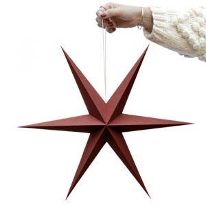 Papieren sterren rusty red (2st) Delight Department