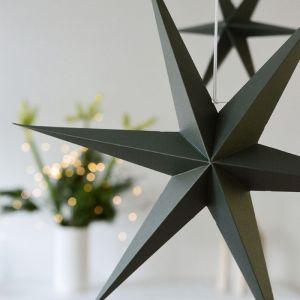 Papieren sterren olijf (2st) Delight Department
