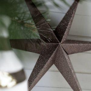 Papieren sterren bruin (2st) Delight Department