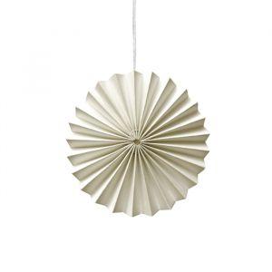 Ornamenten paper fans off white (10st) Delight Department