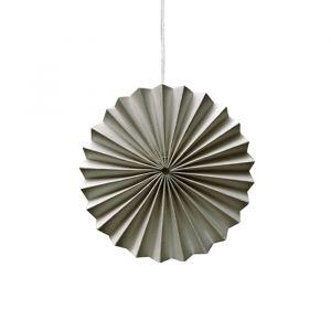 Ornamenten paper fans warm grijs (10st) Delight Department