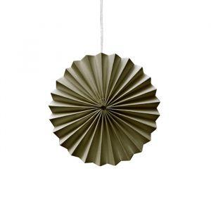 Ornamenten paper fans mosgroen (10st) Delight Department