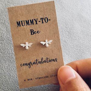 Mummy to be zilveren oorbellen