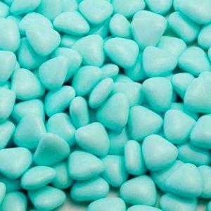 Mini chocoladehartjes 1kg Lichtblauw