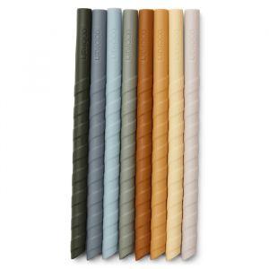 Herbruikbare siliconen rietjes Zoe blue multi (8st) Liewood