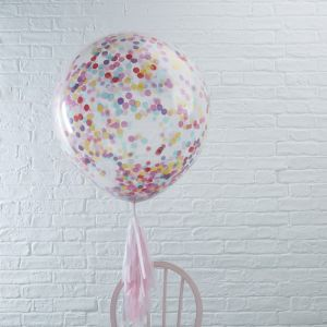 Mega confettiballon multi 90cm (3st) Pick & Mix Ginger Ray