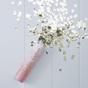 Confettikanon ombre roze met gouden confetti Pick & Mix Ginger Ray