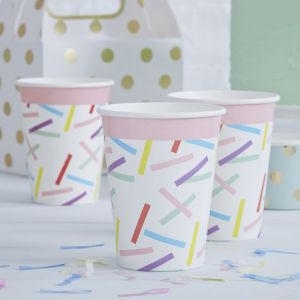 Bekertjes confetti Pick & Mix (8st) Ginger Ray